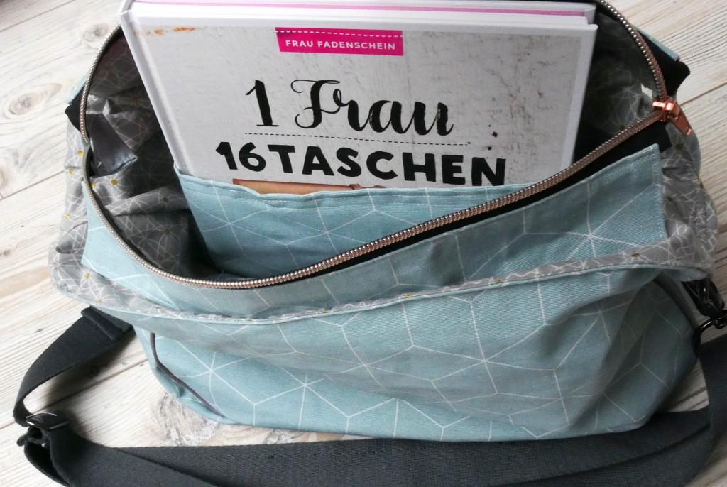 """Handtasche """"Anouk"""" von Frau Fadenschein mit innen liegendem Steckfach"""