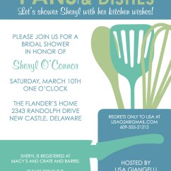 Kitchen Themed Bridal Shower Chandeliers For Invitations Free