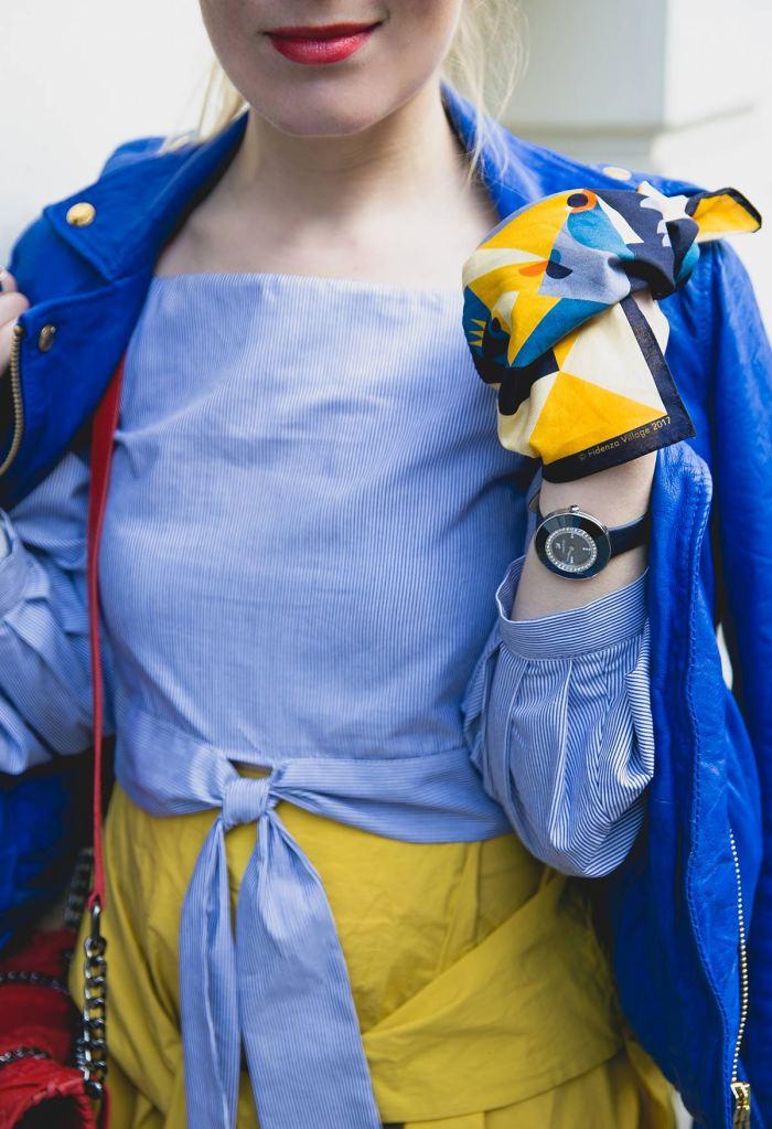 Roman Muradov bandana dressed by Adriana Deco for Fidenza Village