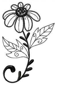 Simply Beautiful Filled Applique Machine Embroidery Design