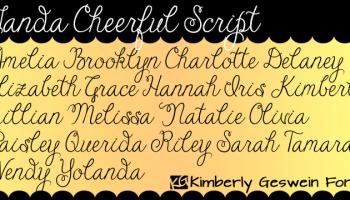 Janda Closer To Free Kreativ Font