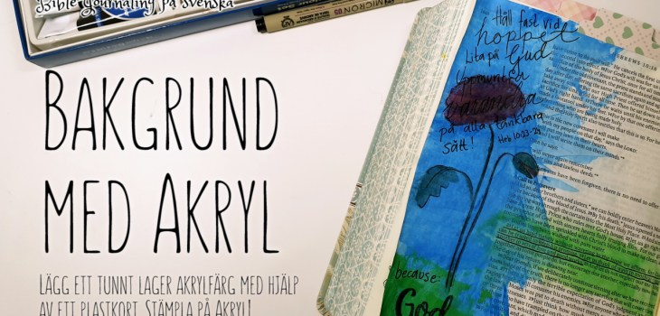 Bible Journaling med akryl