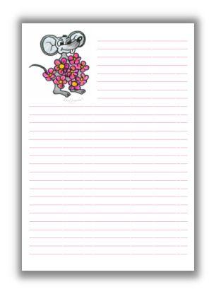 Briefpapier Museblumendienst KreativZauber