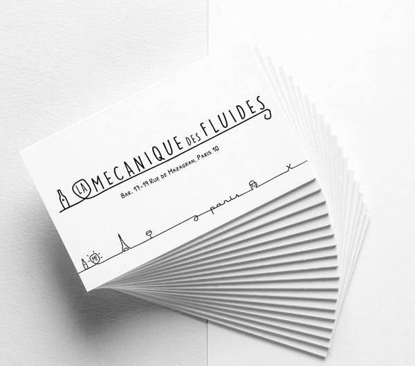 Cédric Darrigrand Graphiste Mimizan Landes 40 - Carte de visite - La Mécanique des Fluides
