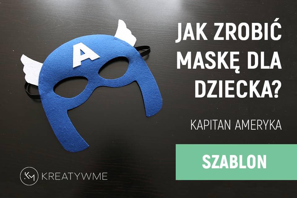Maska karnawałowa dla dziecka – Kapitan Ameryka, szablon