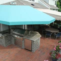 Outdoor Kitchen Covers Backsplash Marble Canopy And Island Options