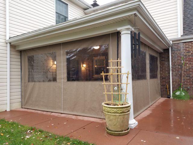 Clear Drop Curtain Enclosure  Kreiders Canvas Service Inc
