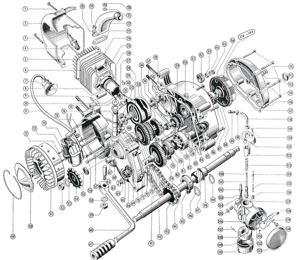 Kreidler-Motorenseite