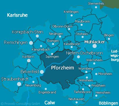 Kreis Enz  Kreisgebiet Enz