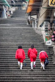 Street Photography - Japan - Hard Way Home at the end of a School Day