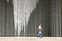 Street Photography - Singapore - Water Art and The Man