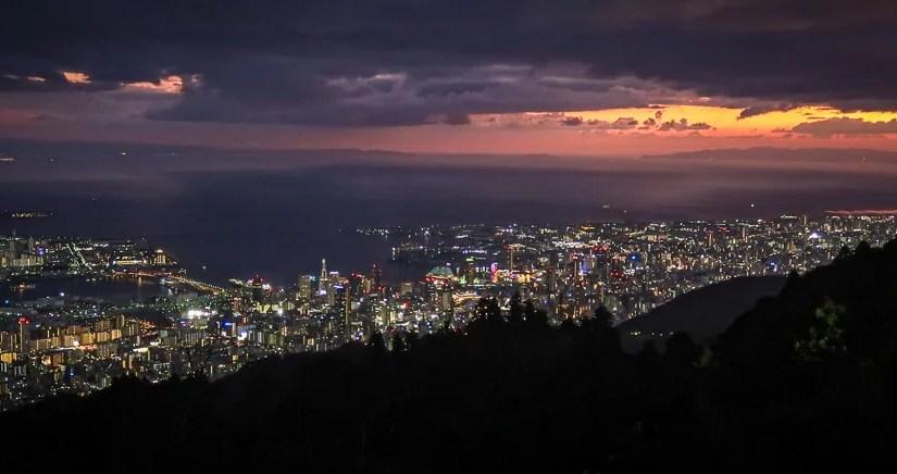 Japan (2019) – Kobe – Der Berg Maya – Sonnenuntergang