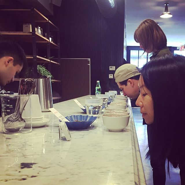 First cupping @parlorcoffee - thanks for the very informative chat! #thirdwavecoffee