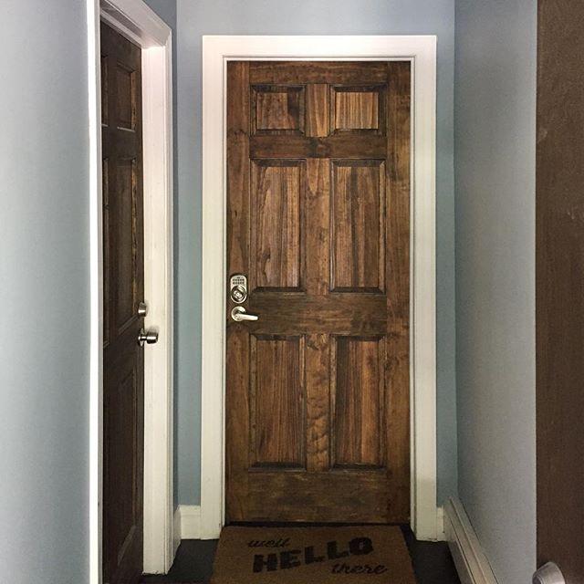Weekend project success: painted vestibule in sophisticated grey #flatbushcottage