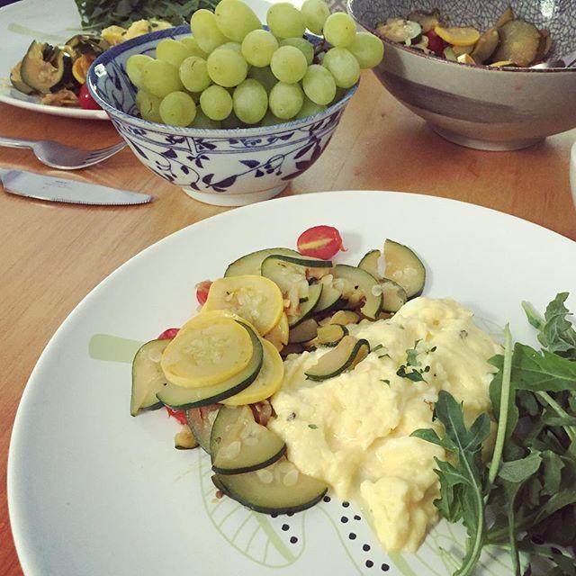 Farm fresh ratatouille & scrambled eggs #fbckitchen