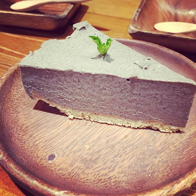 Black sesame addict #blacksesame #cheesecake