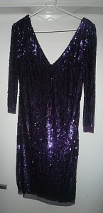 Here's my shimmery purple dress.  I found it last summer the day before we left to come back to India.  Funny, but it's actually made in India.