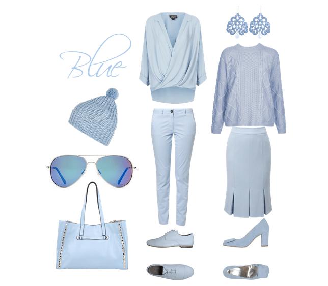 Winter Blue Pastels