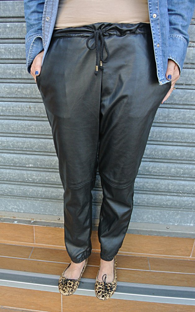 Leather Track Pants