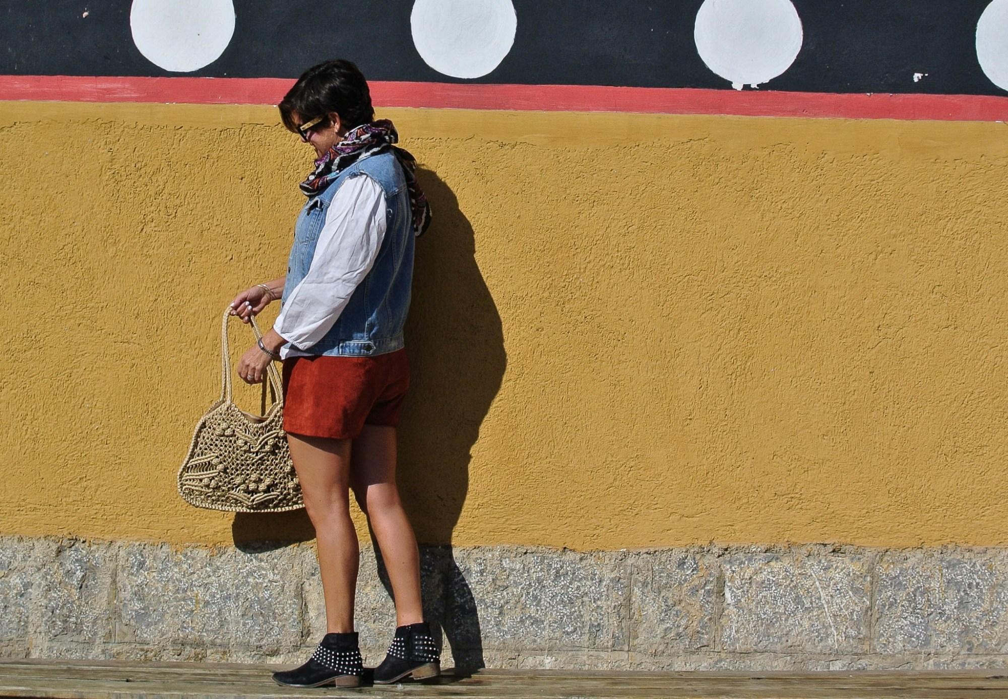 Orange Suede Shorts