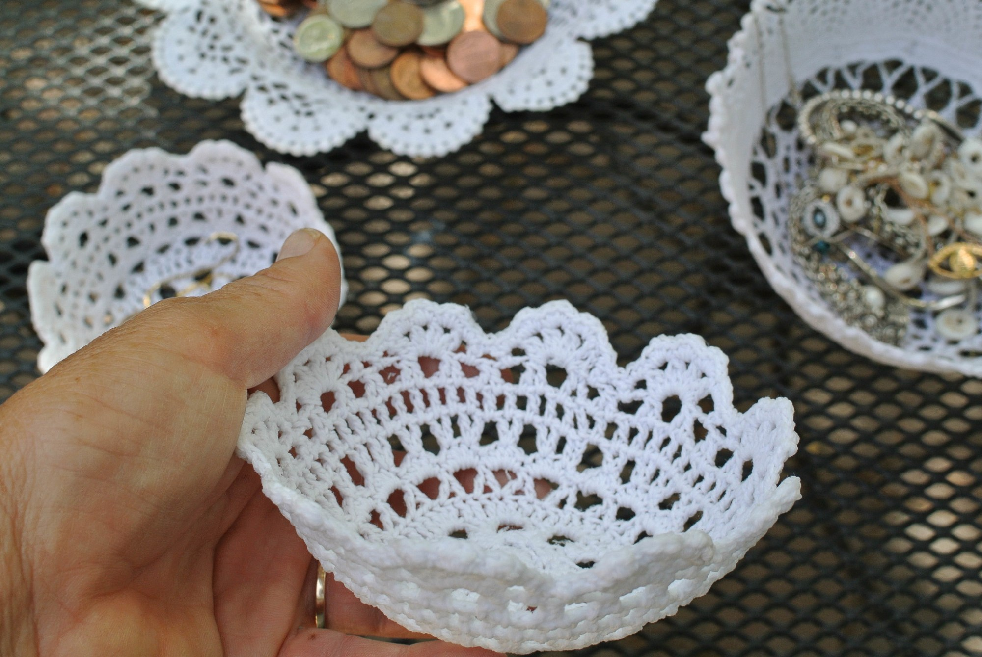 Doily Bowl DIY 9