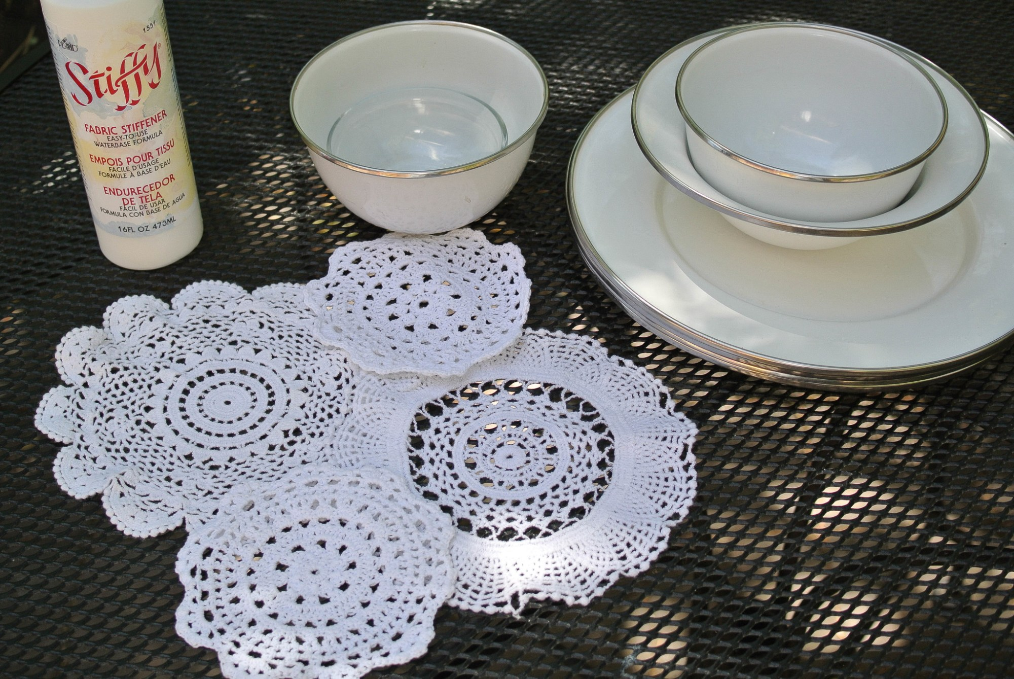 Doily Bowl DIY
