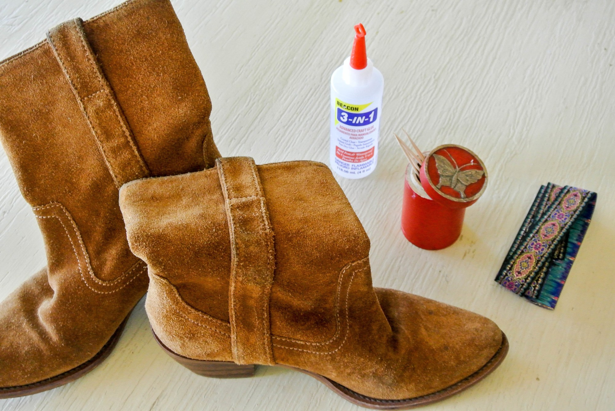 DIY Trimmed Boots 2