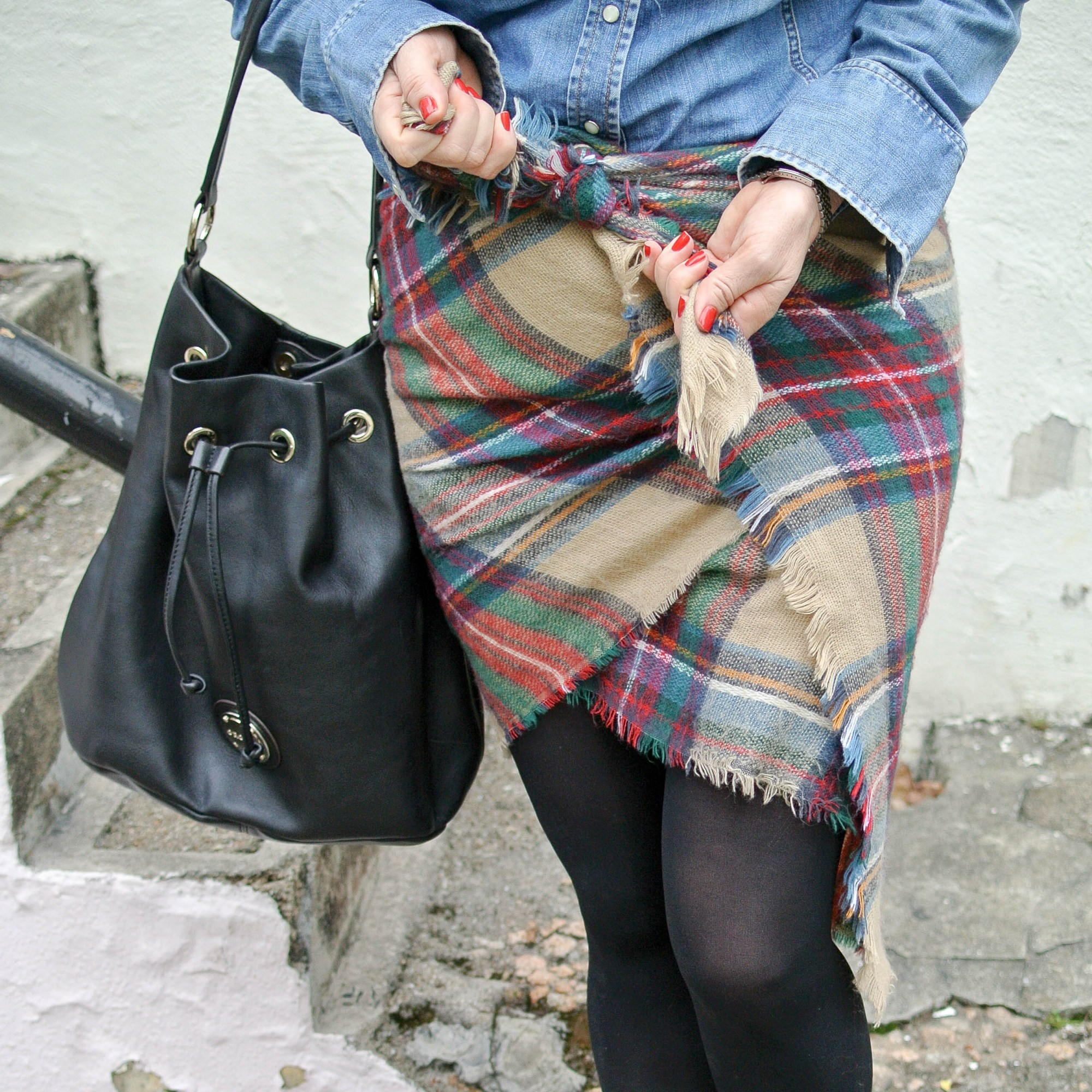 Blanket Scarf as a Skirt 5