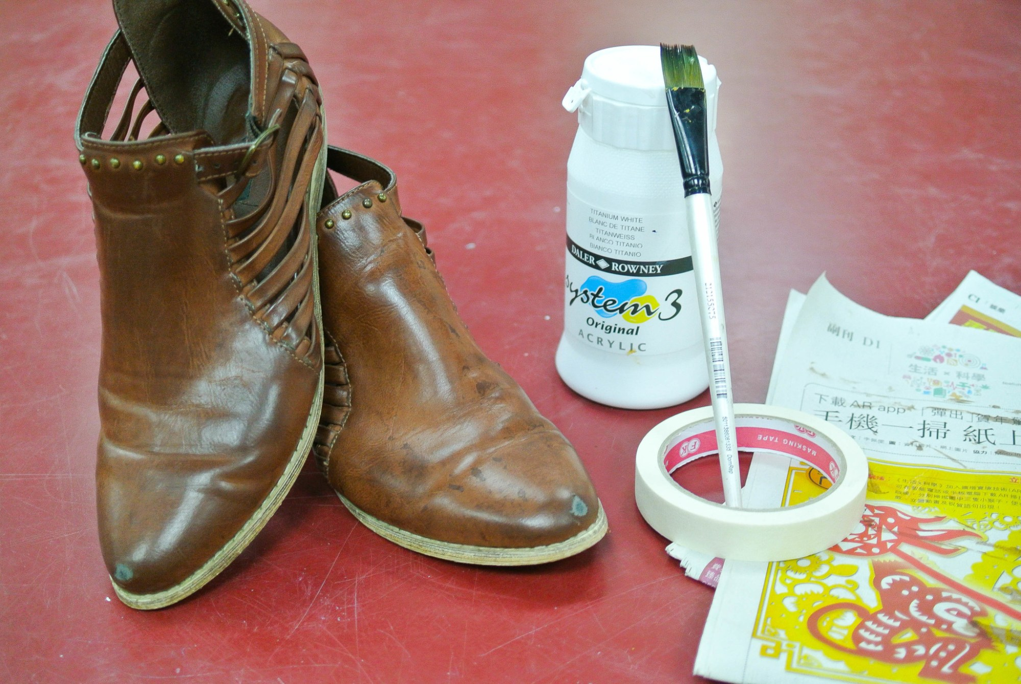 Painting Scuffed Shoes 2