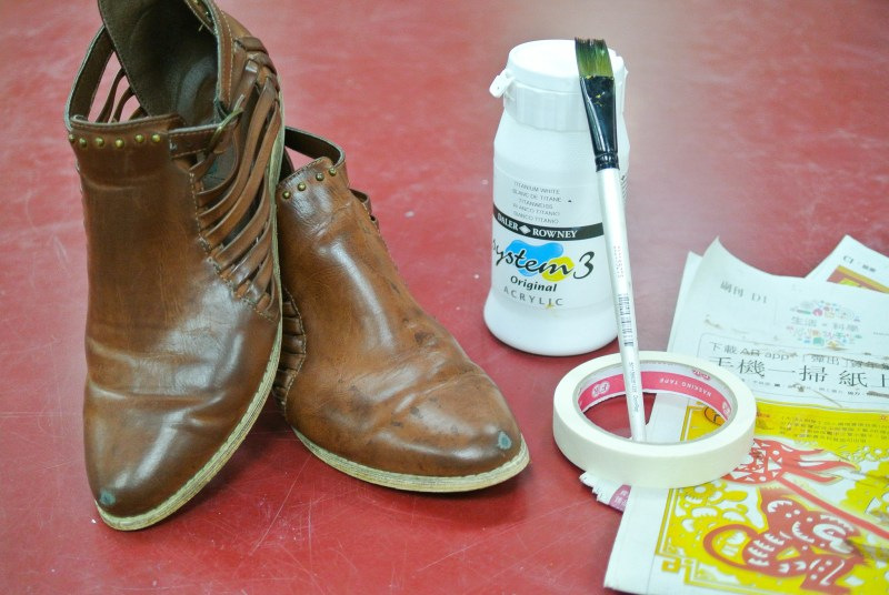 42ee54a501f633 DIY  Painting Scuffed Shoes - Kremb de la Kremb