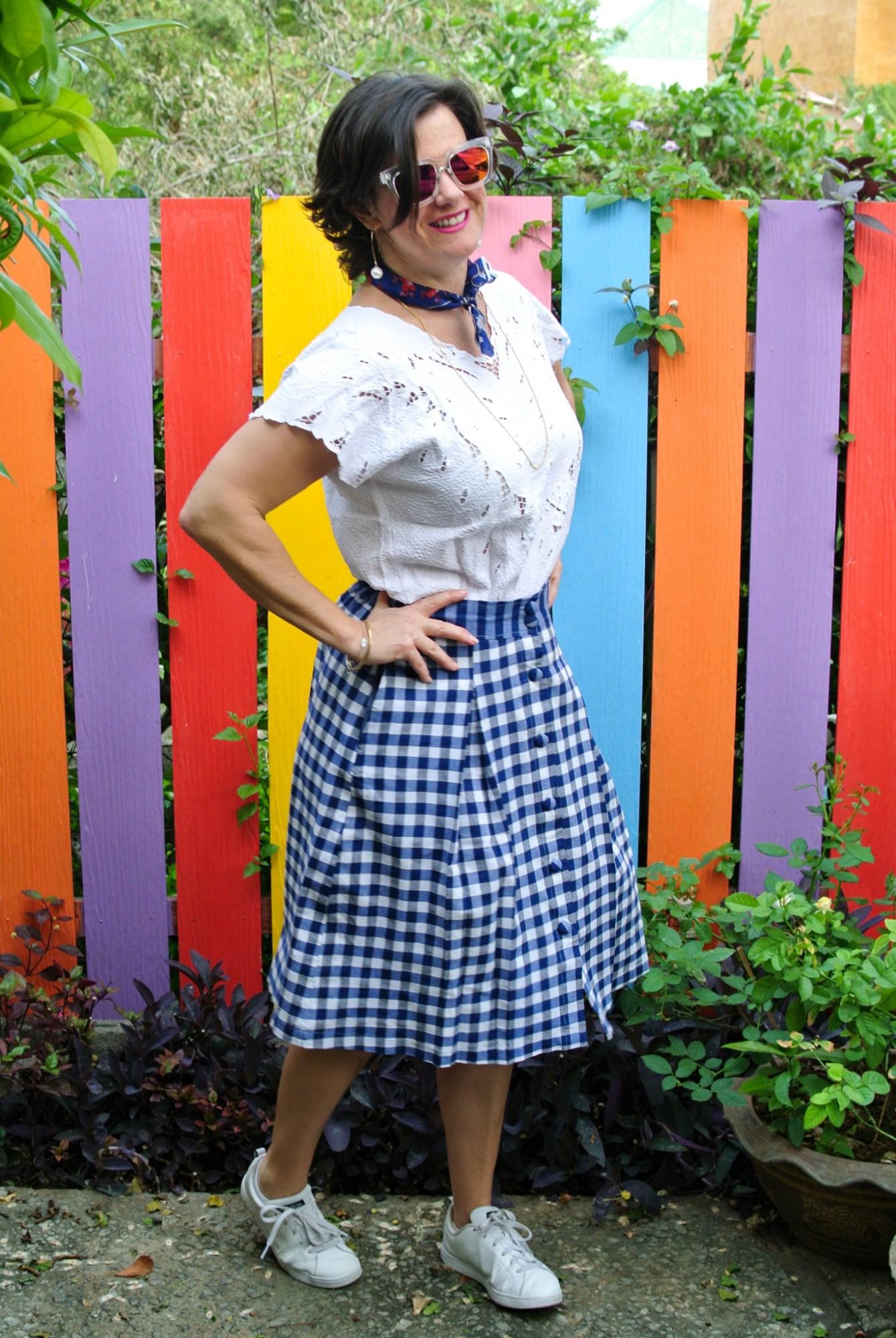 Gingham Skirt 4