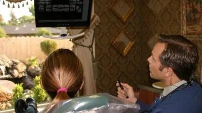 Dr. Kremer showing x-rays