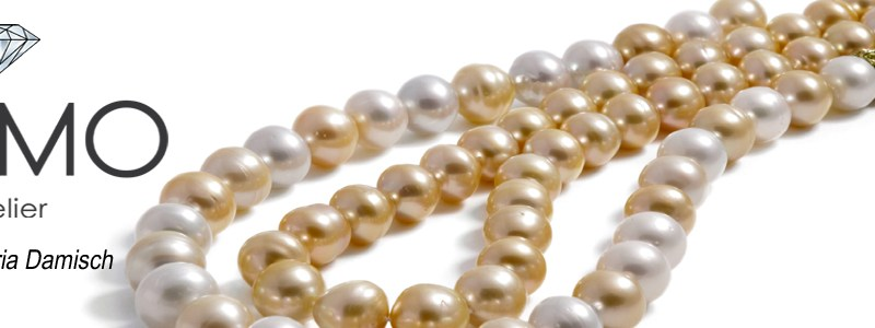 """SalzburgerJuwelierKREMO kreativ modern hat Ihren Perlenschmuck"""" wunderschöne Perlen """" als Schmuck für Sie"""