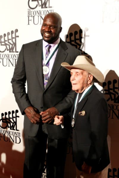 Shaquille O'Neal and boxer Jake LaMotta