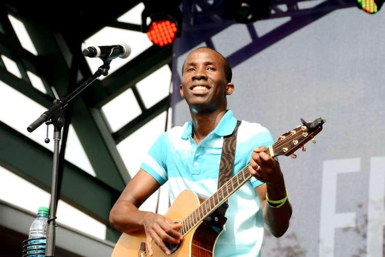 BélO performing at the Festival International de Louisiane, Lafayette, Louisiana, April 2014.