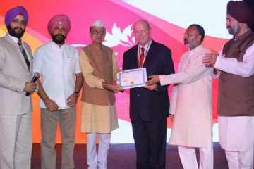 Alan St Ange presented with award in India