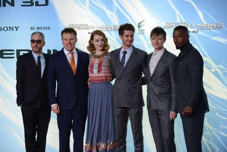 Jamie Foxx with the cast of 'The Amazing Spiderman 2' Premiere in Berlin, Germany. Photo: Lacamerachiara