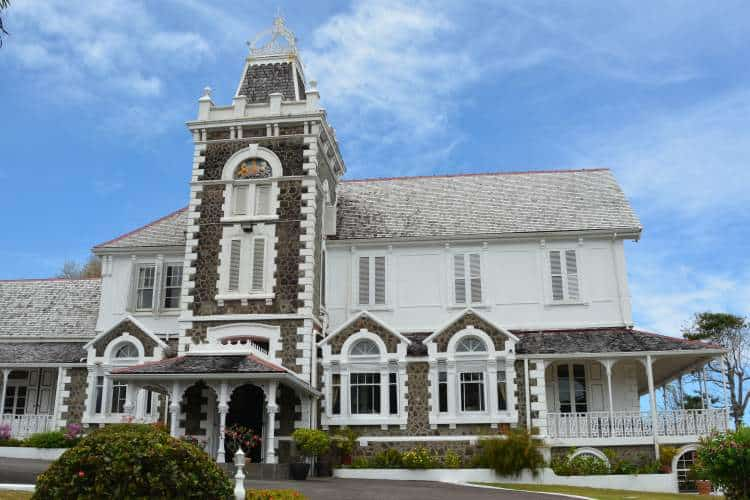 Government House, the official residence of The Governor General of St. Lucia.
