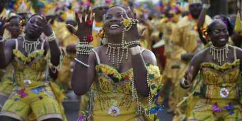 Street carnival, A 4 day event with parades, singing, drums and festivities in Fort de France, Martinique.