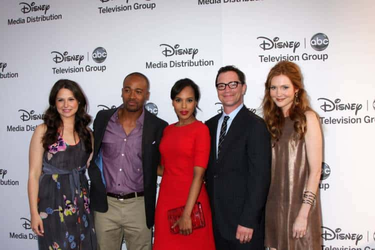 Katie Lowes, Columbus Short, Kerry Washington, Joshua Malina, Darby Stanchfield arrive at the ABC / Disney Intl Upfronts at Disney Studios Lot in Burbank, CA.