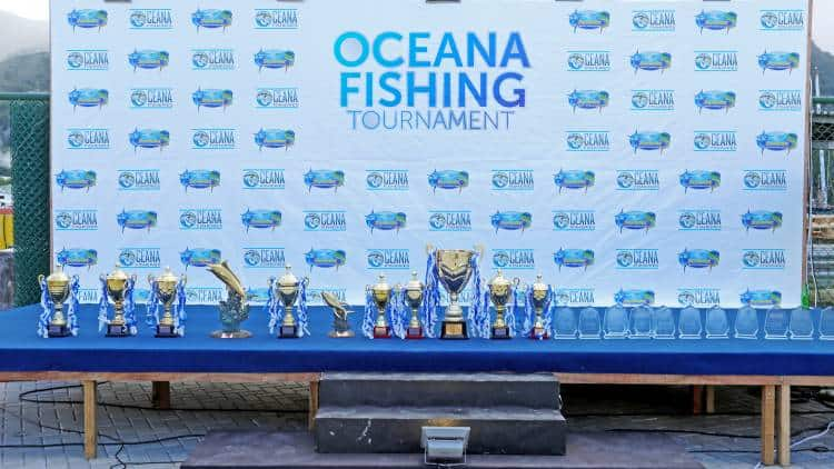 A collection of Tropies won by Oceana fisheries' team