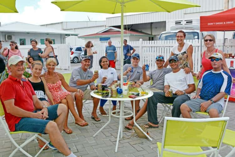 A happy group of customers during an Oceana fishing Competition