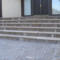 Brick Pavers with Limestone Treads