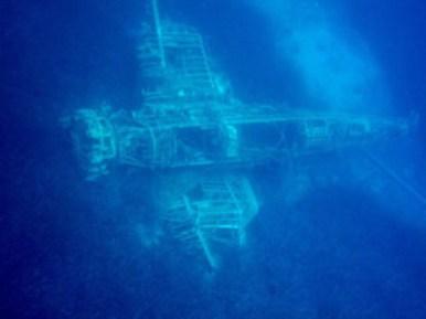 schipwrak in Middellandse zee
