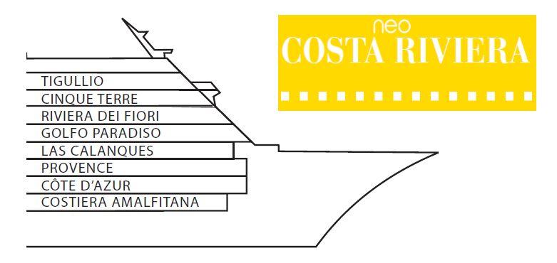 Aktueller Deckplan der Costa neoRiviera