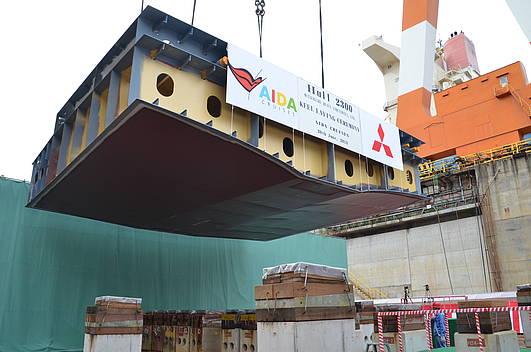 Kiellegung des ersten AIDA Schiffes aus Japan erfolgt