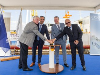 Kiellegung der Seven Seas Splendor bei Fincantieri in Ancona. Foto: Regent Seven Seas Cruises
