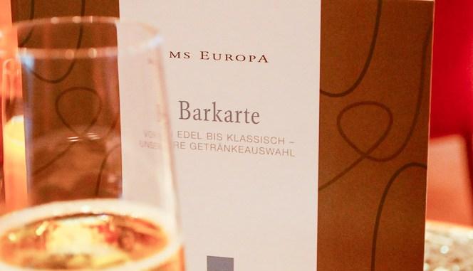 Barkarte der MS Europa