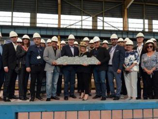 Der Bau der Celebrity Apex hat mit dem Stahlschnitt begonnen. Foto: Celebrity Cruises