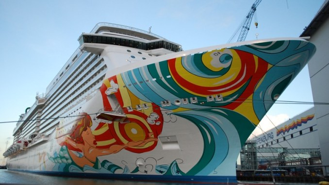 Die Norwegian Getaway in Hafen der Meyer Werft. Foto: Christoph Assies